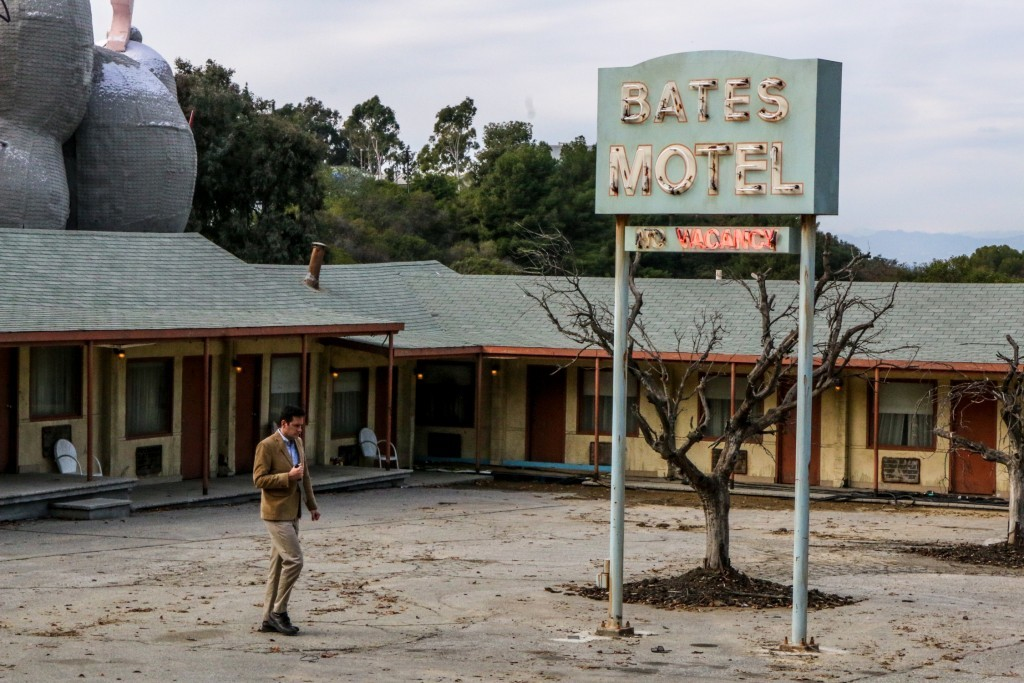 Norman Bates at the Bates Motel