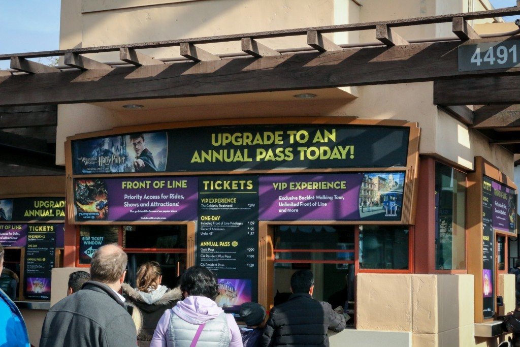 Universal Studios Hollywood Ticket Kiosk