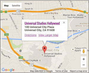 Universal Hollywood on Google Maps