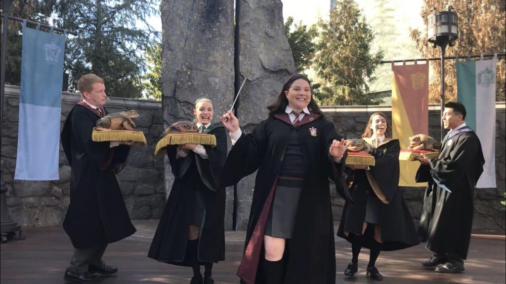 The Frog Choir spreads cheer as part of Christmas in The Wizarding World of Harry Potter
