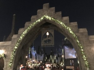 Christmas decorations in The Wizarding World of Harry Potter